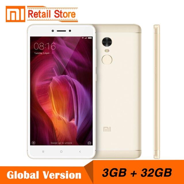 """Глобальная версия Xiaomi Redmi Note 4 смартфонов Note4 Snapdragon 625 Octa Core Телефон 3 ГБ Оперативная память 32 ГБ Встроенная память 5.5 """"13MP 4100 мАч 4 г B4"""