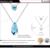 Nidalee 2016 novo em forma de lágrima pingente de cristal colares de cristal de swarovski colares para as mulheres wedding jewelry hot n1597