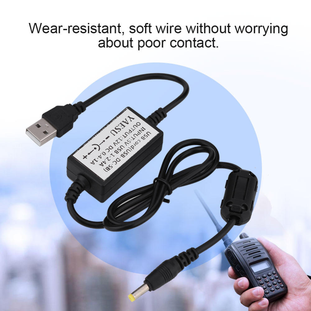 USB Charging Cable Charger For YAESU VX5R/VX6R/VX7R/VX8R/8DR/8GR/FT-1DR Walkie Talkie