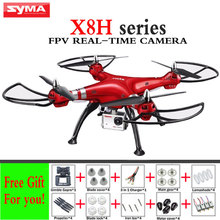 SYMA X8HC X8HW X8HG FPV Real-Time Headless Fixed high Mode 2.4G 6-Axis Drone With WIFI Camera HD 3D Roll RC Helicopter Dron