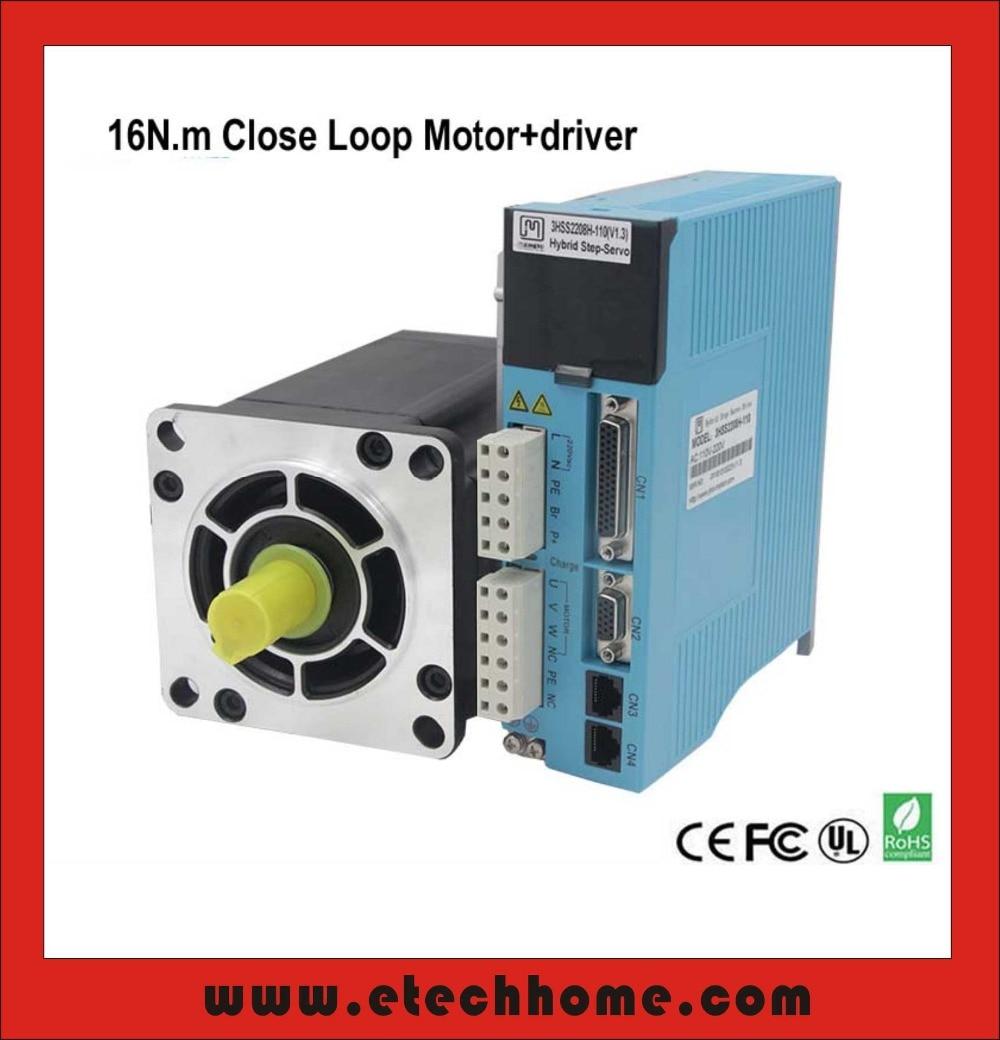 где купить  3 phase NEMA42 16NM Closed Loop Stepper Servo Motor Driver Kit for CNC Cutting Machine Engraving Machine  дешево