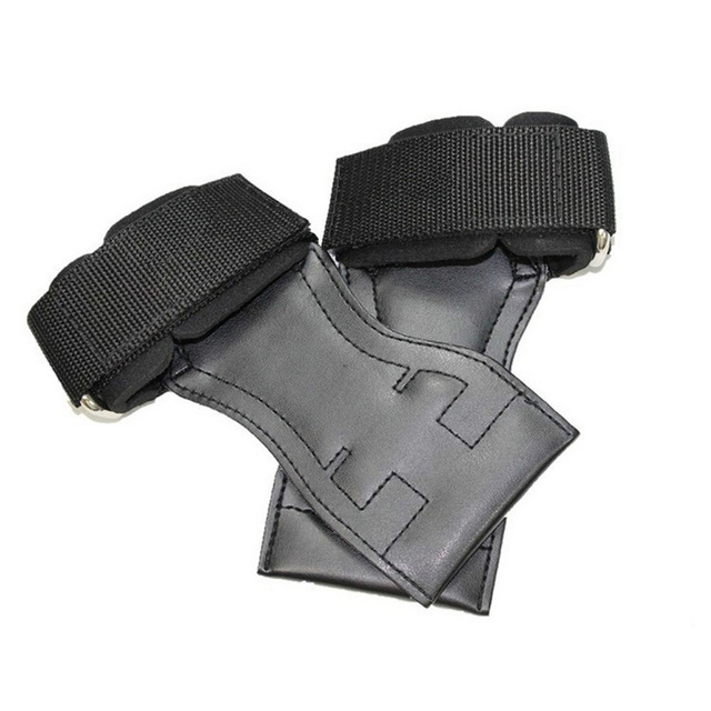 Free Shipping New Crossfit Grips Real Leather Palm Protectors Hand Guards Weight Lifting Barbell Grips Gym  Pull up Glove