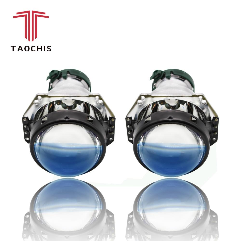 TAOCHIS Voiture Rénovation lampe frontale RHD HELLA G5 3R objectif de projecteur bi xénon Bleu fime style de voiture 3.0 Pouces HID D1S D3S D4S D2S