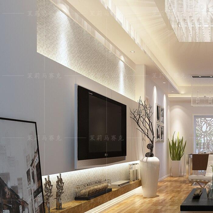 online-shop weiß kristall glas gemischten steinmosaikfliesen ... - Wandabdeckung Küche