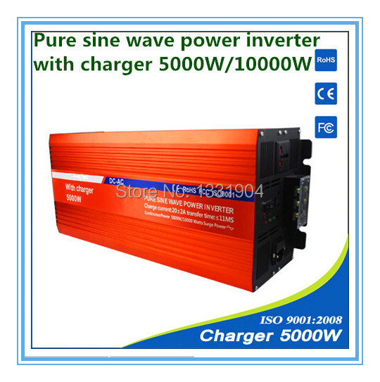 12V to 220V 5000W Pure Sine Wave Power Inverter With Buildin Charger with Automatic Transfer for solar inverter, car inverter