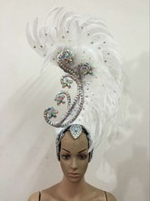 Feather clothing Stage performance catwalk carnival Headdress flower pubs party Mens wear womens clothing