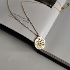Image 3 - Collar LouLeur con colgante de Estrella de Plata de Ley 925 con forma de Luna, cadena Clavicular Irregular, collar de Color dorado, joyería nueva de moda para mujer