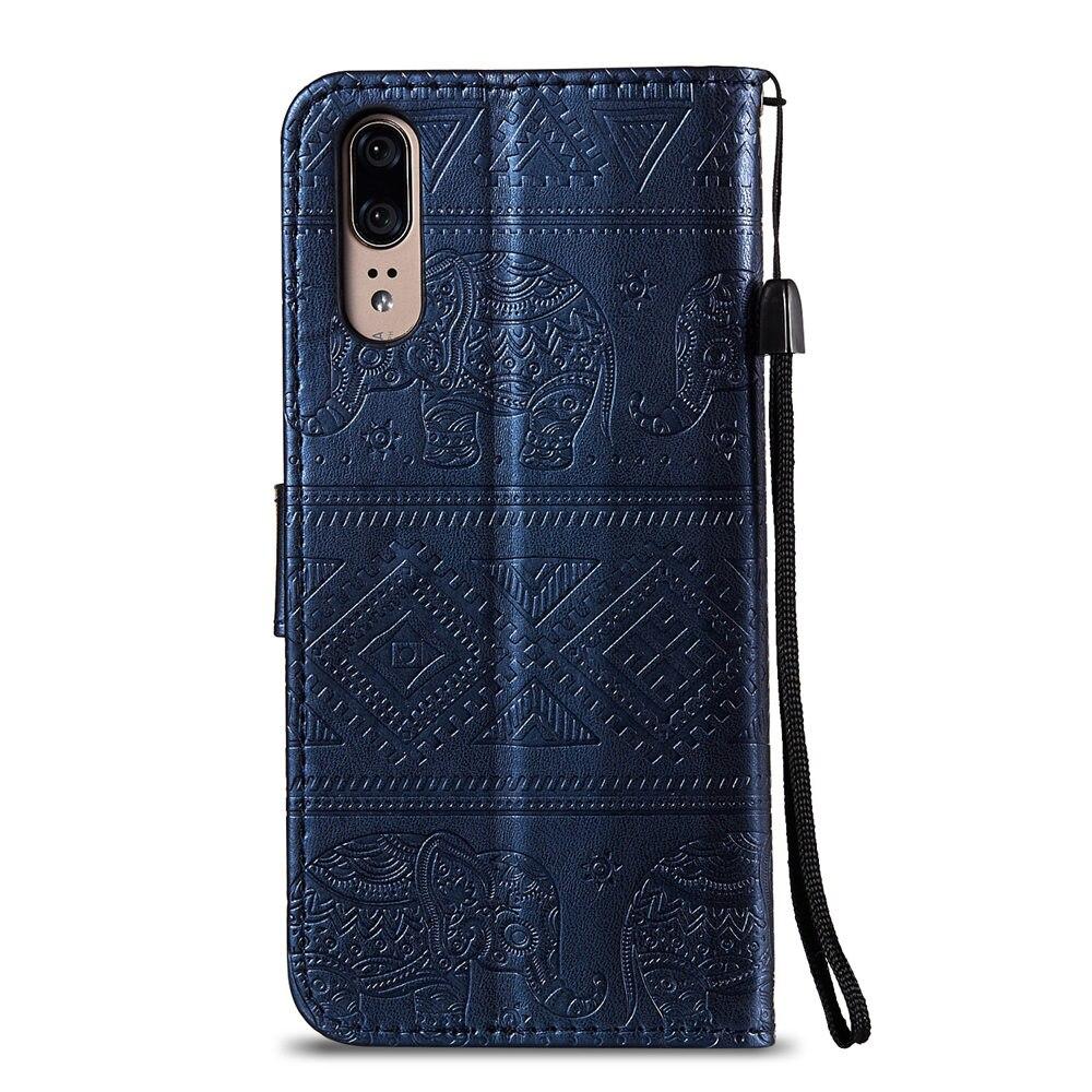 Flip Elephant Coque for Huawei P20 EML L29 L09 AL00 Case Retro Flip Wallet PU Leather Cover for Huawei P 20 EML-L29 EML-L09 Case