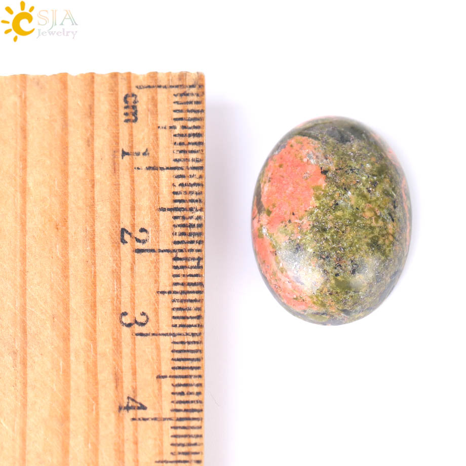 Unakite Oval Cabochon 22 x 30mm Green//Orange  Wire Wrapping DIY Jewellery Making