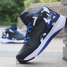 2018 buty koszykarskie dla mężczyzn amortyzacja buty do koszykówki męskie wysokie buty Outdoor oddychające adidasy sportowe buty sportowe