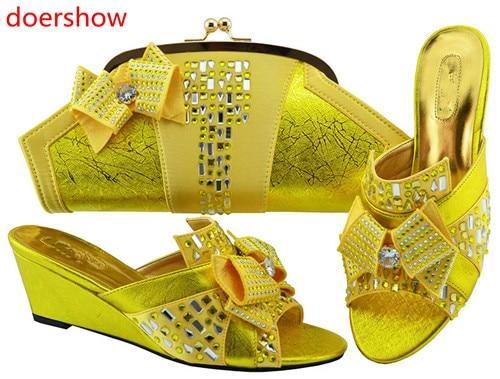 Doershow 2018 nouvelles chaussures italiennes assorties et sac ensemble Style africain dames MAGENT chaussures et sac pour correspondre à la robe de mariée! HH1-13 - 6
