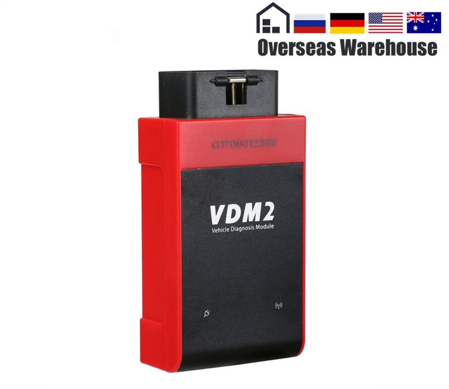 UCANDAS VDM2 VDM II V3.9 Plein Système OBD2 Voiture Outil De Diagnostic OBDII ABS CSM TAPOTE PCM antidémarrage Auto Code Scanner wifi Android