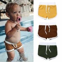 3 цвета, новинка года, брендовые трикотажные шорты с ремешками для новорожденных мальчиков, повседневные однотонные шорты Летняя Пляжная одежда для мальчиков От 1 до 4 лет