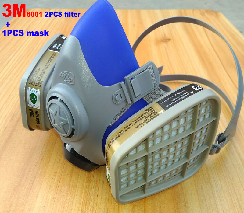 3M 6001CN filter + Silicone respirator mask High grade protective mask against Painting pesticide pesticide filter mask чайник bosch twk 6001