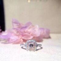 ANI 18K White Gold AU750 Women Wedding Ring Certified F VS 0 6 Carat Real Pink