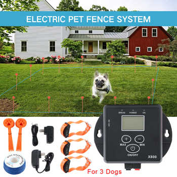 Electric Fence For Dogs Waterproof Rechargeable Dog Training Collars Electronic Shock Collar Pet Fence Containment System - DISCOUNT ITEM  31% OFF All Category