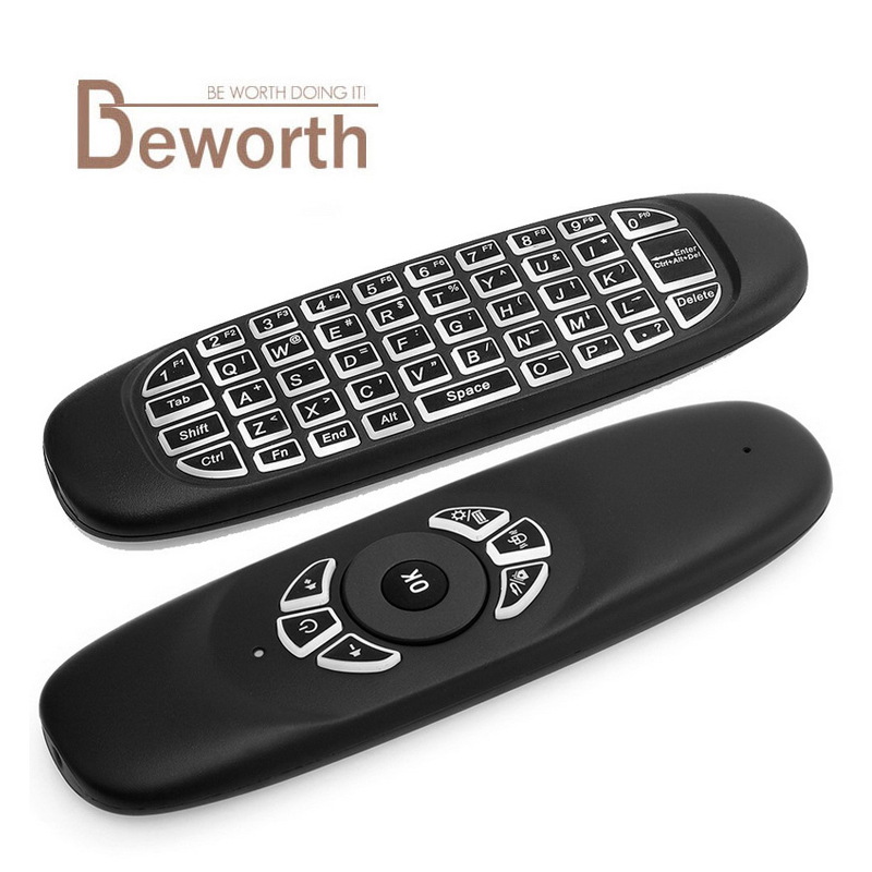 C120 Backlight C120 Fly Air Mouse 2 4GHz Wireless Keyboard 6 Axis Gyroscope font b Gamepad