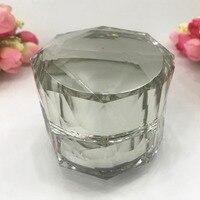 2/10pcs High Class Arcylic Diamond cut crystal Facial Cream Jar,DIY Empty Lotion face cream box,Cosmetics Packaging Container