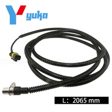 Heavy Duty European Truck ABS Cable Wheel Speed Sensor Right 81271206183 4410322970 For MAN TGA TGX TGS TGM LION S L=2065mm