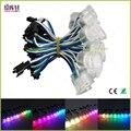 Бесплатная доставка DC5V ws2811IC 20 мм Диаметр прозрачный/молочный корпус светодиодный модуль струны SMD 5050 RGB цифровой светодиодный пиксельный Св...