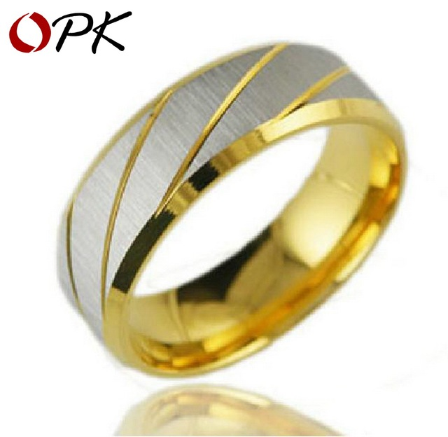 OPK JEWELRY  Couple Jewelry  stainless steel  ring wedding ring special design silver 197