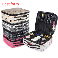 Functional Cosmetic Bag Women Oxford cloth Travel Make Up Necessaries Organizer Zipper Makeup Case Pouch Toiletry Kit Bag