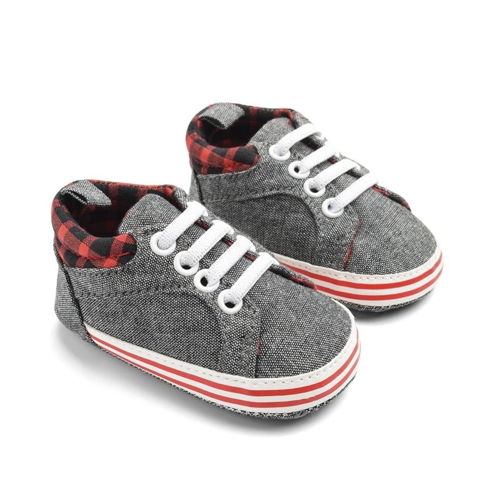 Newborn Baby Boys Soft Anti-Slip Sole Denim Sneaker Infant Prewalker Toddler Shoes
