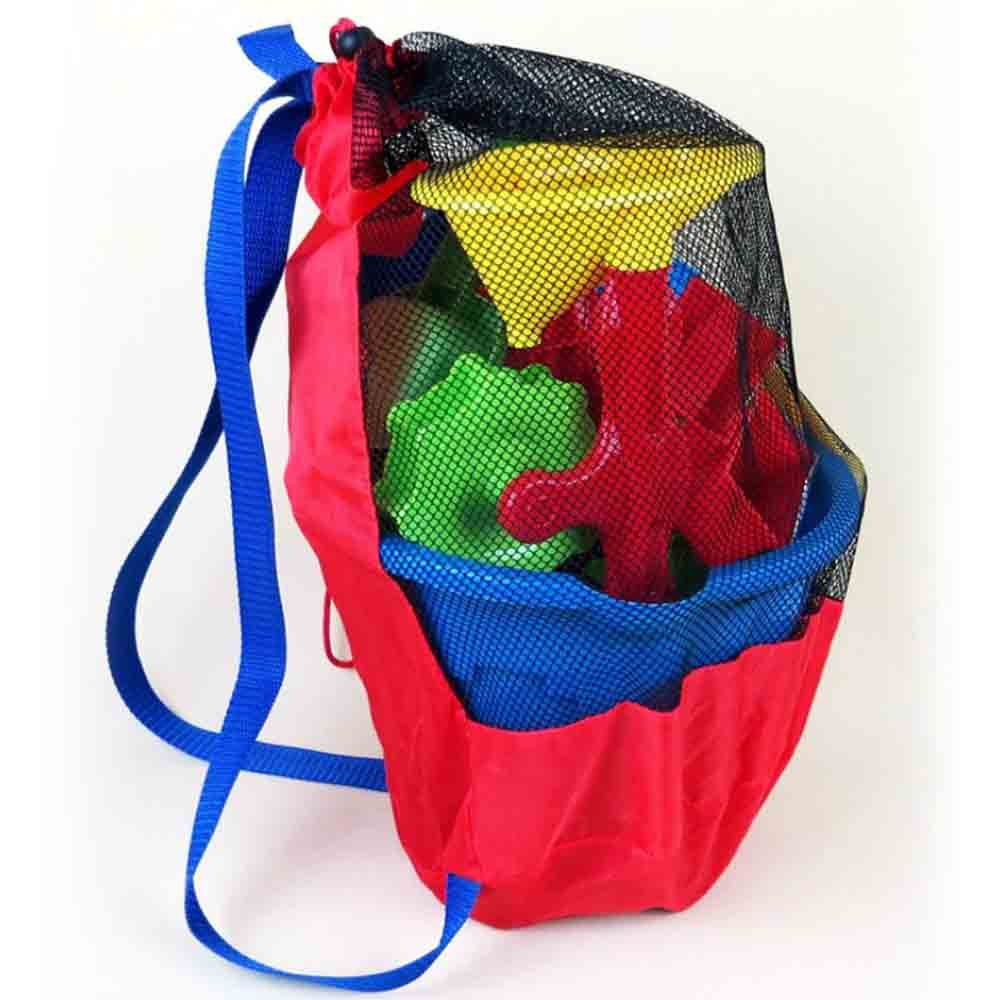 Children Kids Beach Toys Storage Tools Portable Beach Bag Foldable Swimming Bag Baby Play Sand Digging Hourglass Shovel Tool