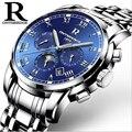 2017 Marca Relógios Tira de Aço relógio Mecânico Automático Oco Negócios Moda Luminosa Relógio dos homens À Prova D' Água Relogios masculinos