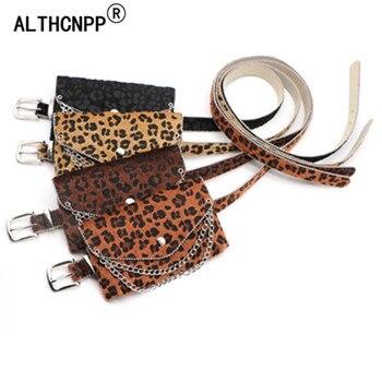 2019 mujeres moda leopardo PU botines punta botas de tacón