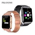 Full Touch Smart Uhr Metall Strap Bluetooth Handgelenk Smartwatch Unterstützung Sim SD Karte Android IOS Sport Uhr Mit Kamera Anti verloren-in Smart Watches aus Verbraucherelektronik bei