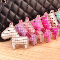 Horse Keychain New Arrival Korean High Grade Crystal Pendant Inlaid Creative Horse Keychain 1712475