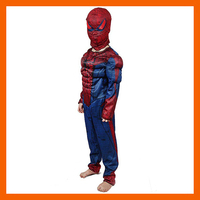 HIGH QUALITY CHILDREN MUSCLE SPIDERMAN COSTUME WITH MASK FOR KID HALLOWEEN SUPERHERO COSPLAY CARNIVAL COSTUME