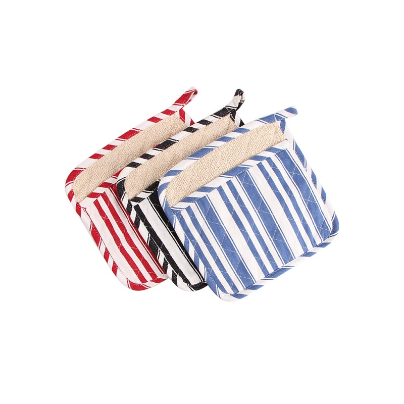 Guante Cocina 1pcs Stripe Style Dual-use Oven Mitts And Pot Pot, Material Cotton Selected, Kitchen, Bbq Groves Om011