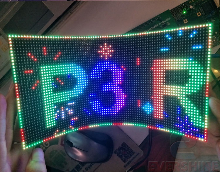NEW design product led flexible smd p3 indoor 1/20scan full color video led module 80 x 40pixel module size 240*120mm free shipping p5 indoor smd 3in1 full color led panel display module 1 16scan 320 320mm