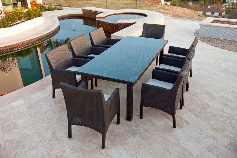 Buy Newest Outdoor Dining Sets Banquet Table And Modern Dini