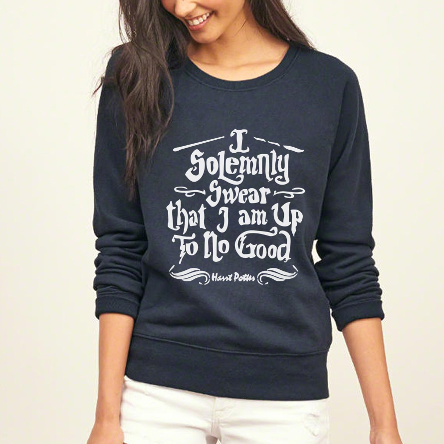 51ff85951 Casual sweatshirt women I Solemnly Swear that I am Up To No Good funny  harajuku hoodies 2019 autumn brand tracksuit. 🔍. Previous