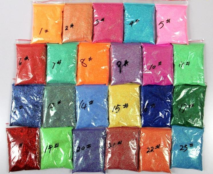 22 Colors Free shipping 100g Colorful glitter powder Sequin Powder For Makeup Nail Art Christmas gifts craft candles and so on