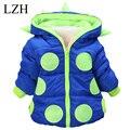LZH Baby winter jacket warm coat winter autumn jacket children boy children outerwear Kids cotton thick warm hoodies coat