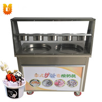 Double Pan(Round or Square) Fried Ice Cream Roll Machine/Ice Frying Machine