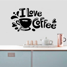 3D Coffee Vinyl Self Adhesive Wallpaper Removable Wall Sticker Decals