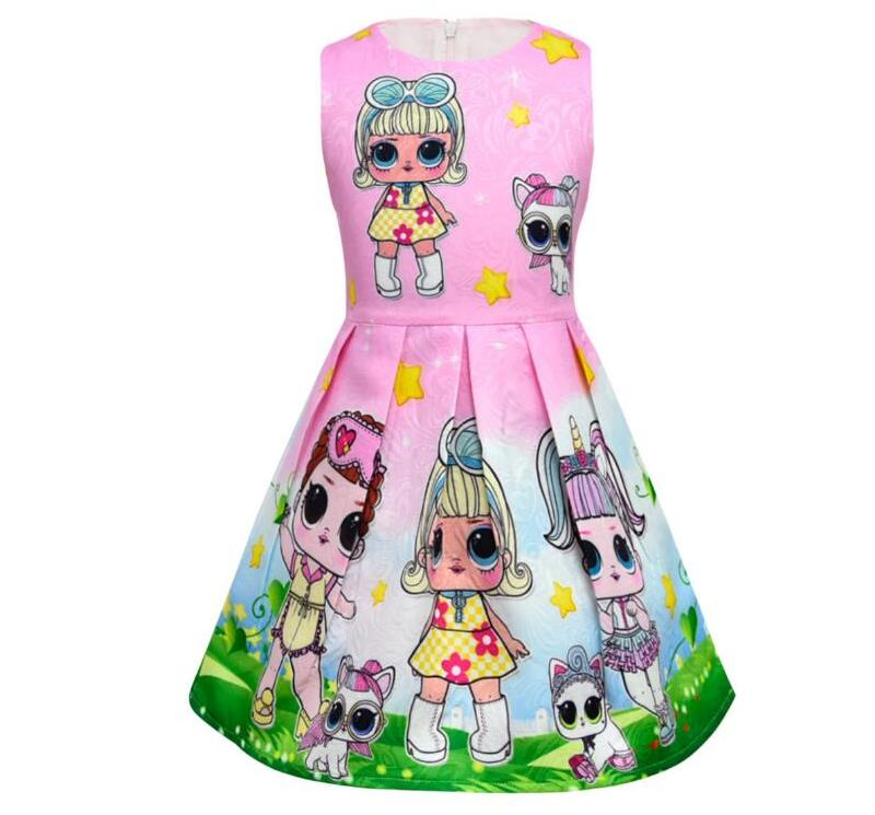 8a21852a10 HaoChengJiaDe Lol Dolls Baby Dresses Summer Cute Elegant Dress Kids Party  Christmas Costumes Child Clothes Princess Girls Dress