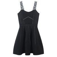 SRUILEE Slim Backless Zippers Strap Dress High End 2019 New Tube Robe Women Dress Short Stripe Pullover Knit Mini Vestido Runway