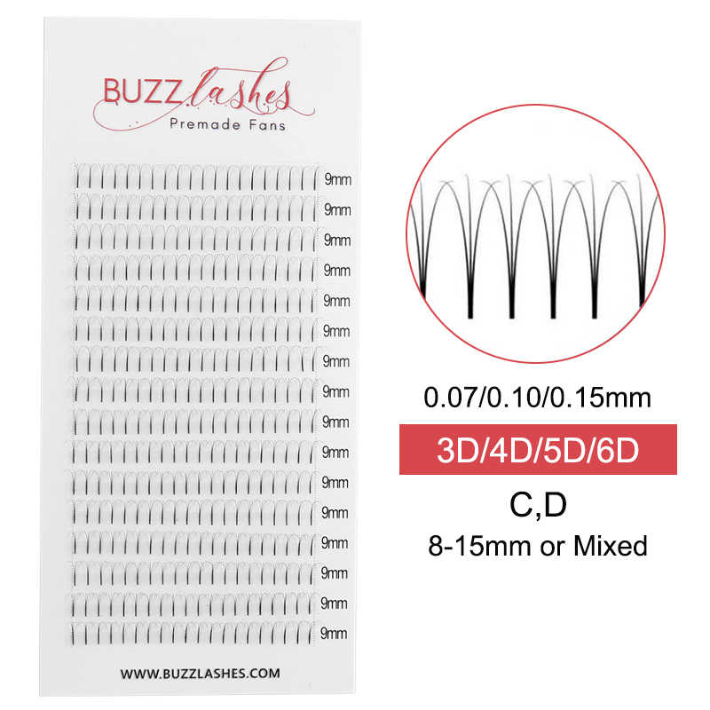 71a546e16fa Detail Feedback Questions about Buzz Lashes 16 lines 4pcs Premade 3d ...