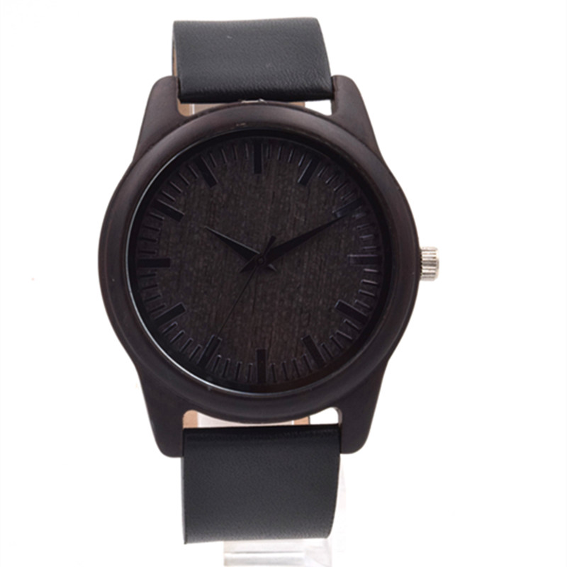 Black font b Wooden b font Wrsitwatch For Male and Female With Japense Movment Quartz font