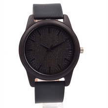 Black Wooden Wrsitwatch For Male and Female With Japense Movment Quartz Watch For Christmas Gift