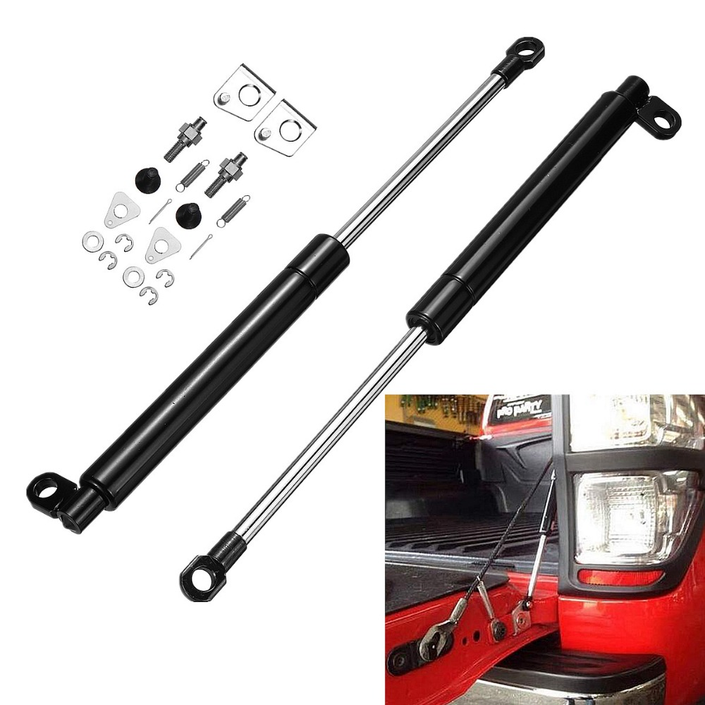 1 Pair Rear Tailgate Slow Down & Easy Up Strut Kit for Ford PX Ranger 2011 2017 Easy Install No Drilling Required Anti breaking