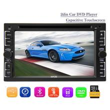 Two 2 Din Car Autoradio Stereo Head Unit DVD Player AM FM Radio Multimedia Win8 Autoradio Bluetooth Ipod USB/SD Aux Steer Wheel