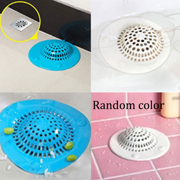 silicone home kitchen hair catcher strainer stopper mesh bathroom shower drain hair rubbish filter ls