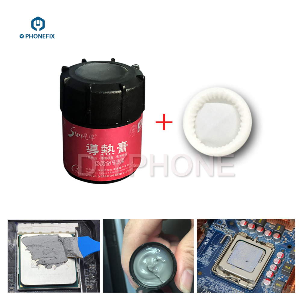 PHONEFIX DRG-102 CPU Thermal Silicone Grease Silver-Containing Thermal Good Conductivity Paste Heatsink